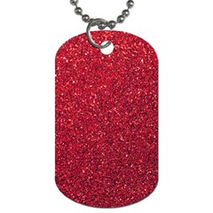Red  Glitter Dog Tag (two Sides)