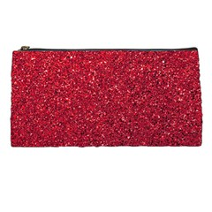 Red  Glitter Pencil Cases by snowwhitegirl