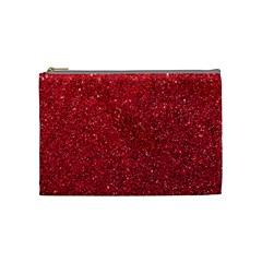 Red  Glitter Cosmetic Bag (medium) by snowwhitegirl