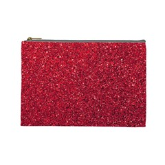 Red  Glitter Cosmetic Bag (large) by snowwhitegirl