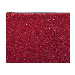 Red  Glitter Cosmetic Bag (xl)