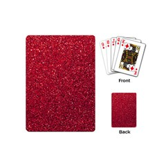 Red  Glitter Playing Cards (mini)  by snowwhitegirl