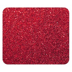 Red  Glitter Double Sided Flano Blanket (small)