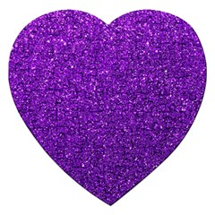 Purple  Glitter Jigsaw Puzzle (heart) by snowwhitegirl