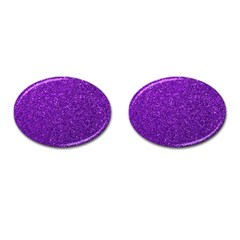 Purple  Glitter Cufflinks (oval) by snowwhitegirl