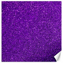 Purple  Glitter Canvas 12  X 12   by snowwhitegirl
