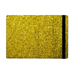 Gold  Glitter Apple Ipad Mini Flip Case by snowwhitegirl