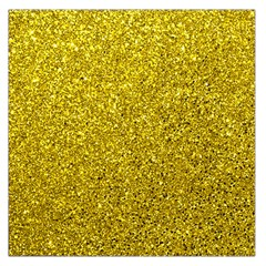Gold  Glitter Large Satin Scarf (square) by snowwhitegirl