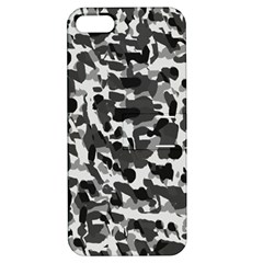 Grey Camo Apple Iphone 5 Hardshell Case With Stand by snowwhitegirl