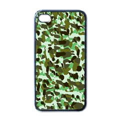 Brownish Green Camo Apple Iphone 4 Case (black) by snowwhitegirl