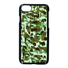 Brownish Green Camo Apple Iphone 8 Seamless Case (black) by snowwhitegirl