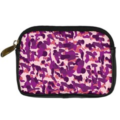 Pink Camo Digital Camera Leather Case by snowwhitegirl