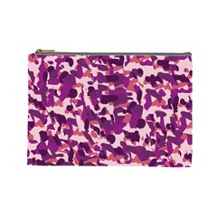 Pink Camo Cosmetic Bag (large) by snowwhitegirl