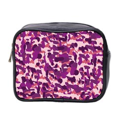 Pink Camo Mini Toiletries Bag (two Sides) by snowwhitegirl