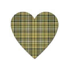 Yellow Plaid Heart Magnet by snowwhitegirl