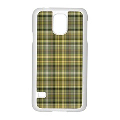 Yellow Plaid Samsung Galaxy S5 Case (white)