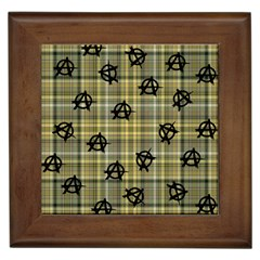 Yellow Plaid Anarchy Framed Tiles