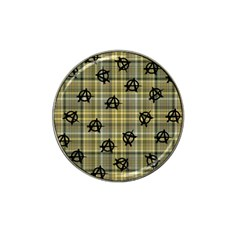 Yellow Plaid Anarchy Hat Clip Ball Marker (4 Pack) by snowwhitegirl