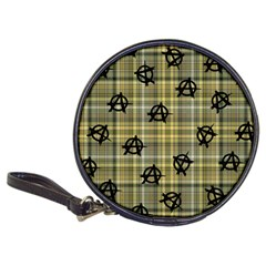 Yellow Plaid Anarchy Classic 20 Cd Wallets by snowwhitegirl