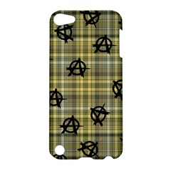 Yellow Plaid Anarchy Apple Ipod Touch 5 Hardshell Case by snowwhitegirl