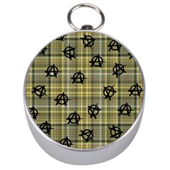 Yellow Plaid Anarchy Silver Compasses by snowwhitegirl