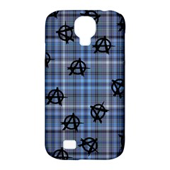 Blue  Plaid Anarchy Samsung Galaxy S4 Classic Hardshell Case (pc+silicone) by snowwhitegirl