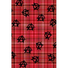 Red Plaid Anarchy 5 5  X 8 5  Notebooks by snowwhitegirl