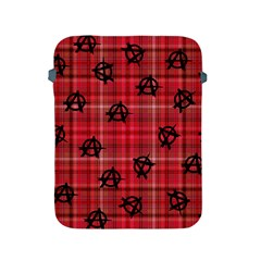 Red Plaid Anarchy Apple Ipad 2/3/4 Protective Soft Cases by snowwhitegirl
