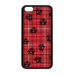 Red Plaid Anarchy Apple Iphone 5c Seamless Case (black) by snowwhitegirl