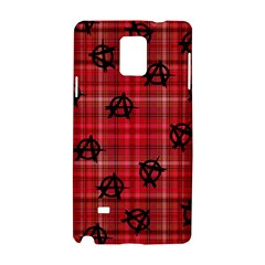 Red Plaid Anarchy Samsung Galaxy Note 4 Hardshell Case