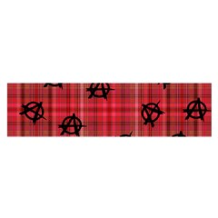 Red Plaid Anarchy Satin Scarf (oblong) by snowwhitegirl
