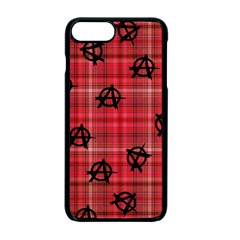 Red Plaid Anarchy Apple Iphone 7 Plus Seamless Case (black) by snowwhitegirl