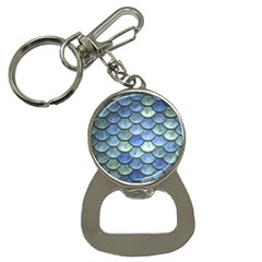 Blue Mermaid Scale Bottle Opener Key Chains by snowwhitegirl