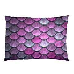 Pink Mermaid Scale Pillow Case by snowwhitegirl