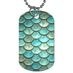 Aqua Mermaid Scale Dog Tag (two Sides) by snowwhitegirl