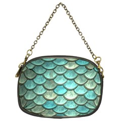 Aqua Mermaid Scale Chain Purse (two Sides) by snowwhitegirl