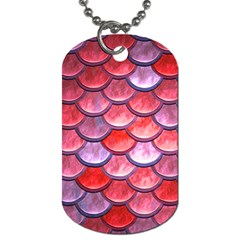 Red Mermaid Scale Dog Tag (two Sides) by snowwhitegirl