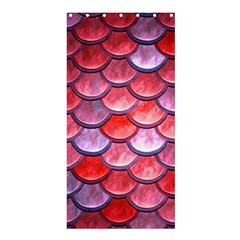 Red Mermaid Scale Shower Curtain 36  X 72  (stall)  by snowwhitegirl