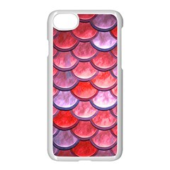 Red Mermaid Scale Apple Iphone 7 Seamless Case (white) by snowwhitegirl