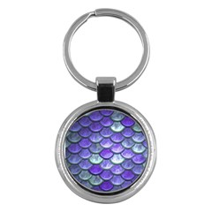 Blue Purple Mermaid Scale Key Chains (round)  by snowwhitegirl
