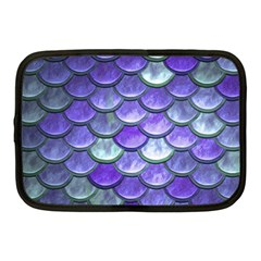 Blue Purple Mermaid Scale Netbook Case (medium) by snowwhitegirl