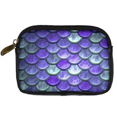 Blue Purple Mermaid Scale Digital Camera Leather Case by snowwhitegirl