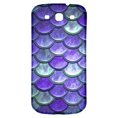 Blue Purple Mermaid Scale Samsung Galaxy S3 S Iii Classic Hardshell Back Case by snowwhitegirl