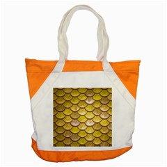 Yellow  Mermaid Scale Accent Tote Bag by snowwhitegirl