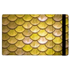 Yellow  Mermaid Scale Apple Ipad 2 Flip Case by snowwhitegirl