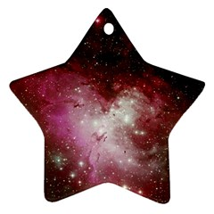 Nebula Red Star Ornament (two Sides)
