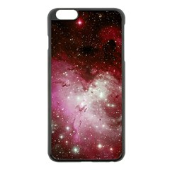 Nebula Red Apple Iphone 6 Plus/6s Plus Black Enamel Case by snowwhitegirl
