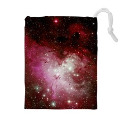Nebula Red Drawstring Pouch (xl) by snowwhitegirl