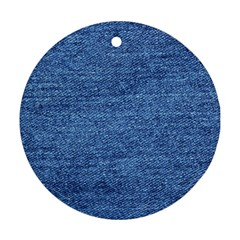 Blue Denim Ornament (round) by snowwhitegirl