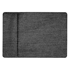 Black Denim Samsung Galaxy Tab 10 1  P7500 Flip Case by snowwhitegirl
